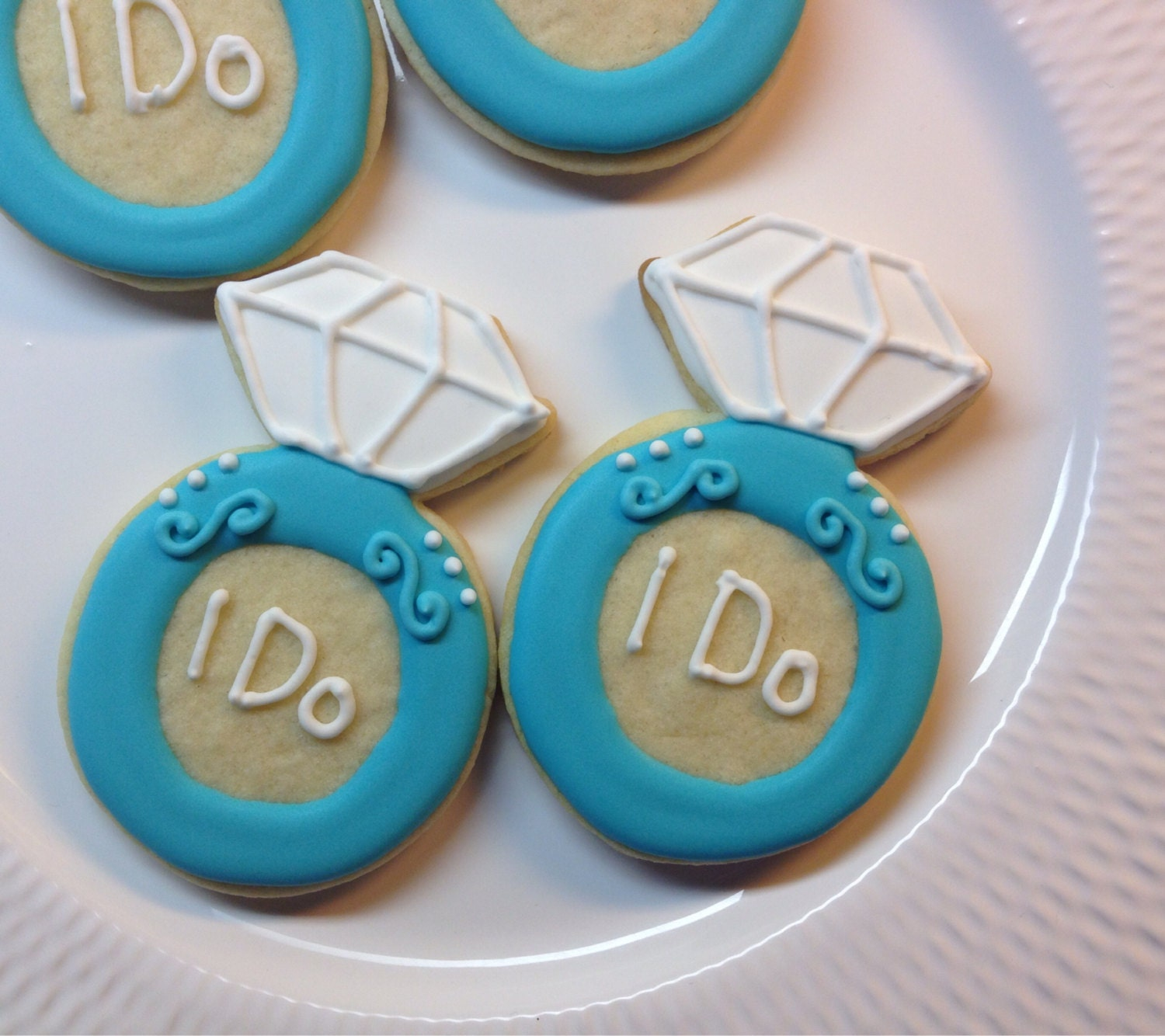 engagement ring cookie wedding cookie by bakedbytoni on etsy