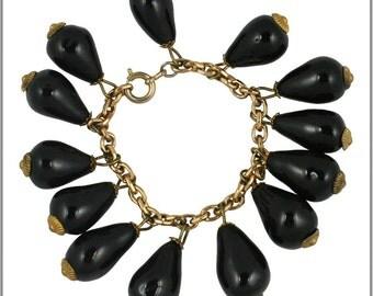 Vintage Black Bauble Bracelet
