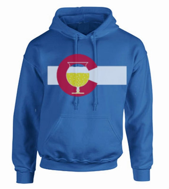 "Colorado BEERfection! Show your love for beer and Colorado with a rad HOODIE! ""Beer Was Invented in the Old World but Perfected in Colorado"""