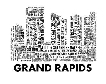 Grand Rapids Print, 16 x 20