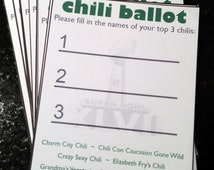 Popular items for chili cook off on Etsy