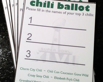 Chili cookoff voting ballot printables digital with chili cook off party ballot chili cook off printable customized chili pronofoot35fo Image collections