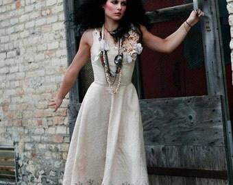 Angels Dancing Vintage Art-To-Wear Dress