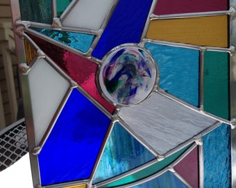 A Colorful Point of View Stained Glass Panel