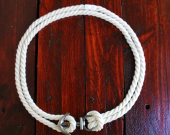 Nautical Rope Belt with Anchor Buckle