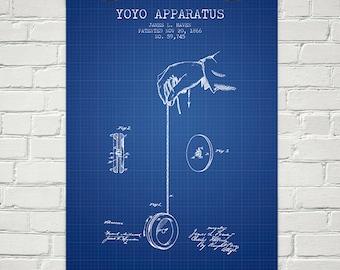 1866 Yoyo Patent Wall Art Poster, Home Decor, Gift Idea