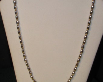 Sterling Silver Graduated Bead Necklace, Italy