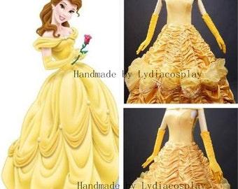Handmade - Belle Dress, Belle Costume, Princess Belle Dress, Belle Dress Adult/kid, Belle Costume Adult/Kid