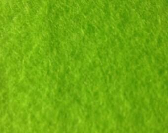 100% Wool felt. Light green.