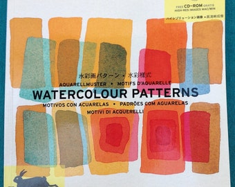 Watercolour Patterns, Book with CD-ROM, Joost van Roojen