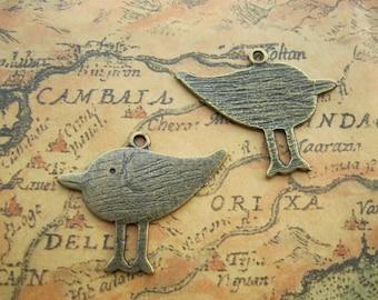 20 pcs 28x33mm Antique Bronze Birds Charms Pendants Bird Pendant Charm M A