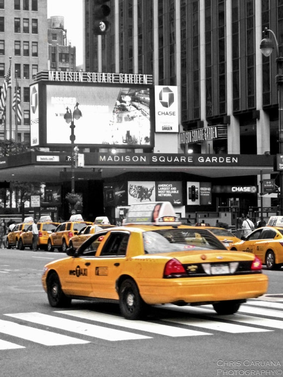 Madison Square Garden Taxi By Chriscaruanaphoto On Etsy