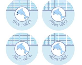 Dolphin Labels, Dishwasher Safe Labels, School Name Labels, Day Care Labels