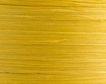 10m x 7mm Yellow Paper Tying Raffia Ribbon