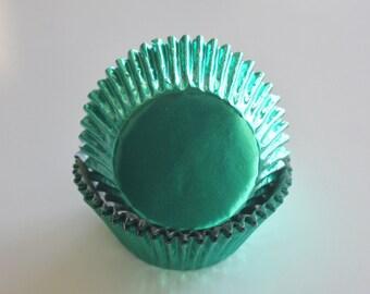 GREEN FOIL Cupcake Liners
