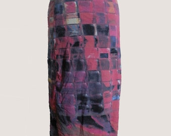 Vtg Klee Multicolor Skirt