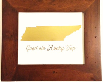Rocky Top Tennessee - Gold Foil Print - Tennessee Vols