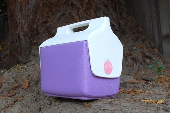 Vintage pink and purple igloo cooler lunch box hiking outdoor - Igloo vintage ...