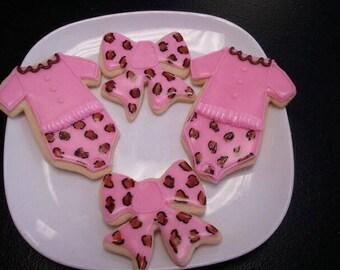 Baby Onsies and Bow Sugar Cookies