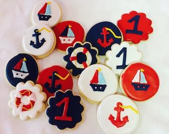 Nautical sugar cookies