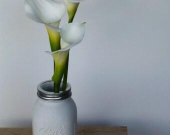 Concrete Mason Jar Vase