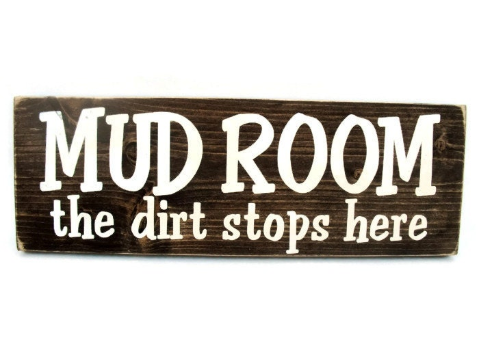Mud Room Wall Decor : Mud room wood sign with quote rustic wall decor mudroom the