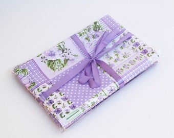 6 Fat Quarters purple for arts and crafts, patchwork