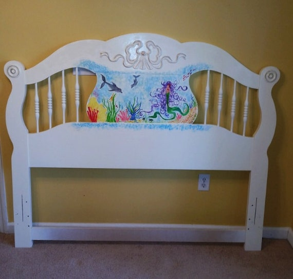 hand painted mermaid furniture on sale by calienteartdesigns. Black Bedroom Furniture Sets. Home Design Ideas