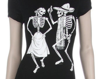 Dancing Couple - Day of the Dead Print Shirt