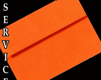 50 Pumpkin Orange Astrobright A7 A6 or A2 Envelopes for Greeting Cards Invitations Response Cards gift Cards & Crafts