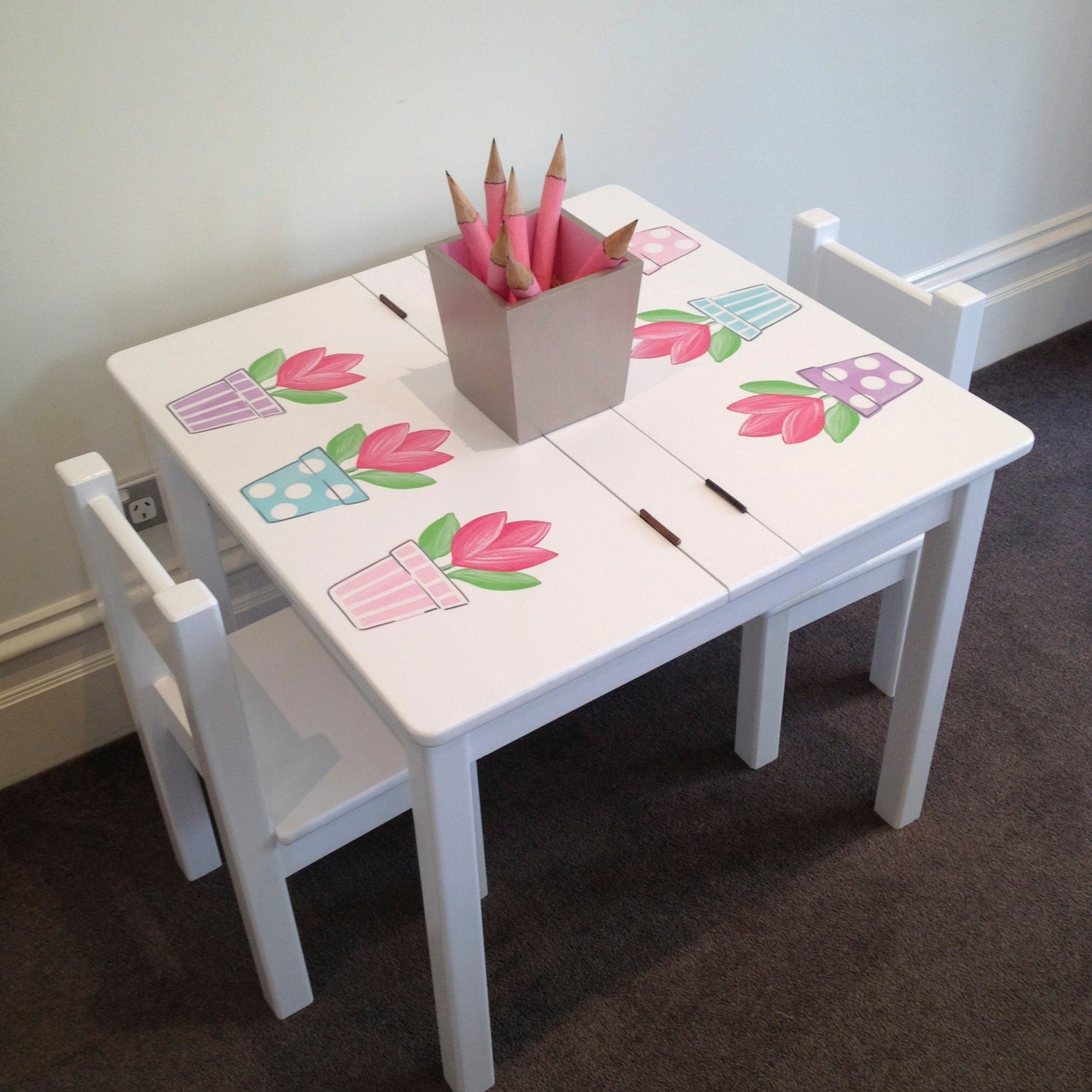 Desk and Chair Set Tulip Table and Chair Set Children