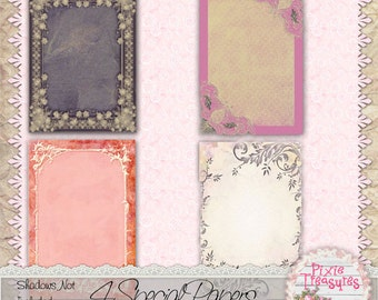 4 Special Papers with ornate borders