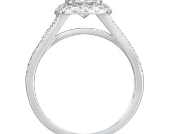 2.25 CT Round Cut d/vs1 Diamond Solitaire Engagement Ring 18k White Gold