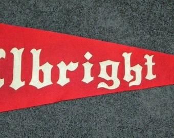 Beautiful Oversized Circa 1910 Albright College Pennant.