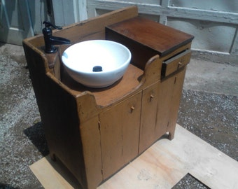 Primitive Dry Sink with Functioning Faucet