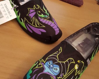 Toms Shoes Customized Stitch Maleficents Dragon