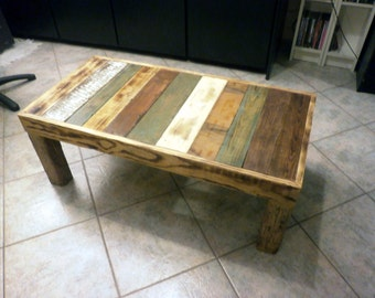 living room table,from reclaimed wood,organic varnish. by order