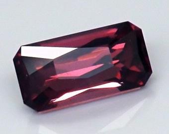 Precision cut Rhodolite Garnet from Madagascar. 2.15 ct, Untreated loose gemstone. Fancy Octagon Custom design. #0104