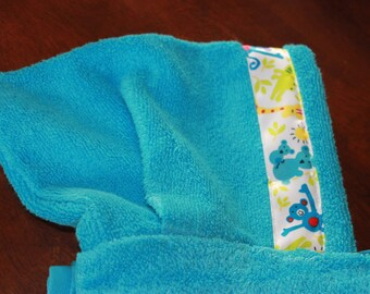 Animal Hooded Towel, Blue - For babies, toddlers, preschoolers and beyond!