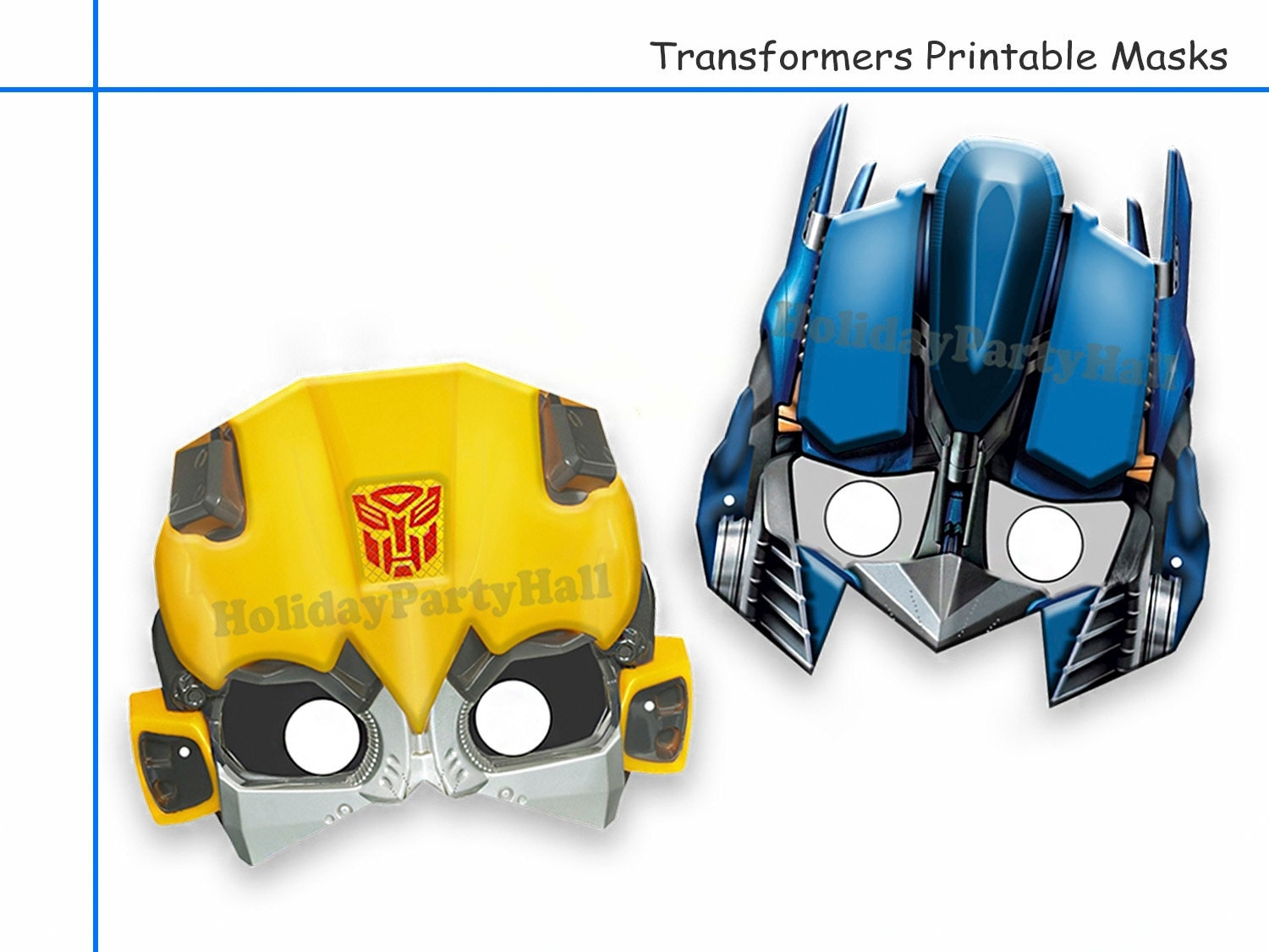 Free printable coloring pages rescue bots - Unique 2 Transformers Printable Masks Party Decoration Kids Dress Up Mask Photo Booth Props Rescue Bots Boys Costume Robot Diy Paper