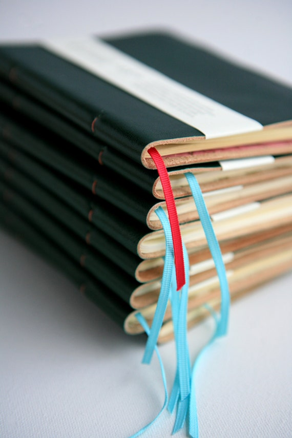 Slim Hand-bound Leather Pocket Notebook