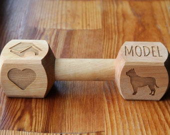 Gryzak - wooden bone with your dog name