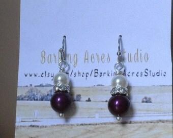 Purple and Cream Pearls