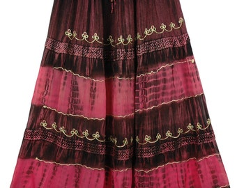 Pink Cadillac Georgette Maxi Skirt