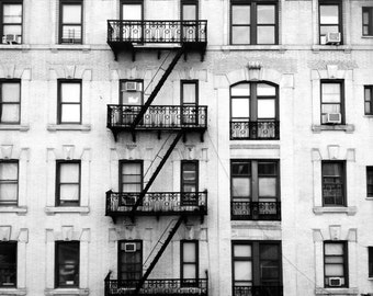 New York City Photography - Modern Building - black and white - art - home decor - NYC photo