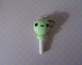 Cute polymer clay lollipop keychain