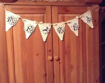 "Wedding/Anniversary ""Mr and Mrs"" banner"