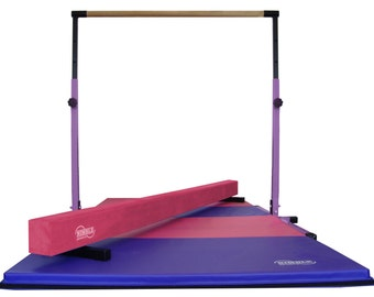 Little Gym - Adjustable Horizontal Bar - Low Balance Beam - 8ft Gymnastics Mat