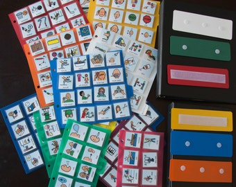 Lot 2 Books & 200+ Cards Pecs+ASL Photos symbols English Spanish French Regular Pecs Communication Autism Apraxia Asperger Speech Therapy