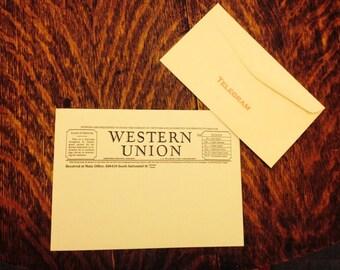 Western Union telegram stationery